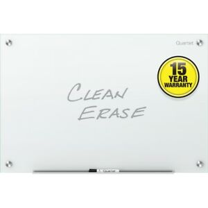 Quartet Infinity Glass Dry erase Board 36 X 24 White Surface Frameless