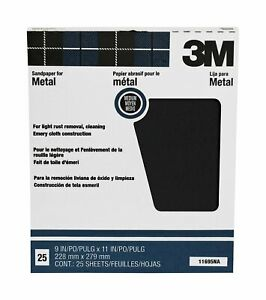 3m 3m 2432 Emery Cloth Sheet 02432 9 X 11 Medium 50 Sheets sleeve