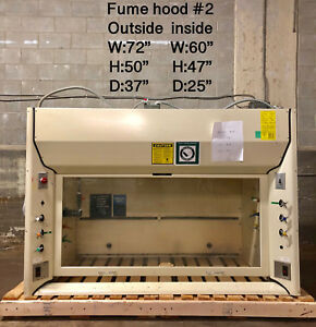6 Kewaunee Chemical Fume Hood With Bench Model Vf501162n