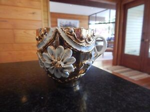 Beautiful Old Paris Heavy Gold Embellished Cup Christmas Thanksgiving Decor