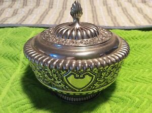 Fb Rogers Ornate Silverplate Candy Dish Trinket Bowl 5 25 X 5