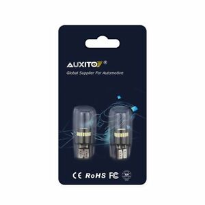 Auxito 2x T10 Led License Plate Light Bulbs 6000k Hid White 168 2825 194 Canbus