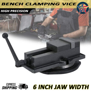 6 Milling Machine Lockdown Vise With 360 Degree Swiveling Base High Precision