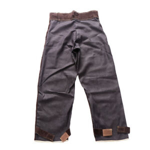 Welding Trousers Heat Fire Resistant Cowhide Leather Welding Clothing L