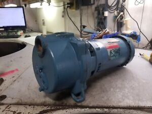 Goulds 3 Hp Water Well Jet Pump 208 230 460 Vac 3450 Rpm 1 5 X 1 5 Gt303te