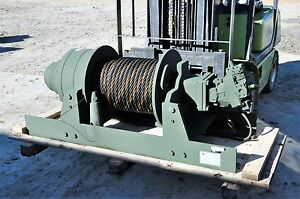 New Military Winch 60 000 Lb Dp Manu Hydraulic Planetary 170 Feet 1 Inch Cable