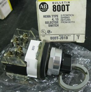 Allen bradley 800t j91b Selector Switch 3 Position Series T