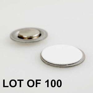 Round Magnet With Adhesive For Name Badges Tags Lapel Pin Lot Of 100 rm01 100