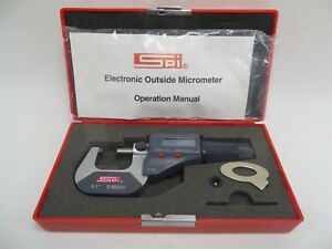 Ip54 Spi Electronic Outside Micrometer 0 1 Range 0 00005 Resolution With Case