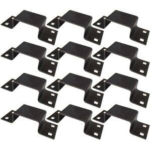 12 Bolt on 12 Gauge Steel Stake Pockets For Trailer Tie Down Points