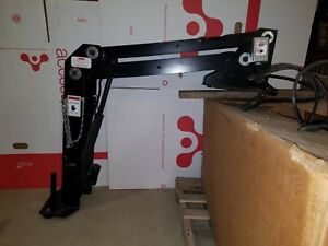 12v Electric Davit Crane Boss Tool Lift Truck Bed Cherry Picker Jib Free Ship