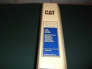 Cat Caterpillar 14h Motor Grader Service Shop Repair Manual Book S n 7wj00664 up