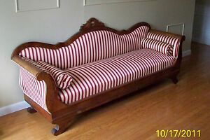 Antique 1800s American Empire Settee Sofa Couch Pick Up Only