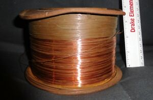 Antique Copper Thin Copper Wire Metal Spool Nearly 10lb