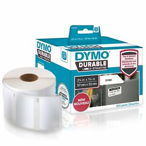 Dymo Lw Durable 2 1 4 X 1 1 4 57mm X 32mm White Poly 800 Labels 1933084