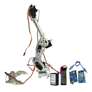 Wifi Metal 8dof Robot Arm Gripper Kit 3316 Servo Power Suite Silver