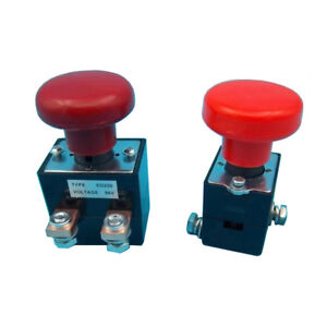 Ed125b 1 125a Emergency Stop Red Mushroom Switch For Albright Stacker Forklift