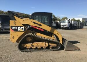 2012 Caterpillar Cat 299d Track Skid Steer 2428 Hours Ac Heat 2 Speed Runs Great