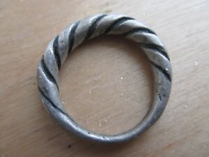 Beautiful Medieval Twisted Silver Ring Kievan Rus 12 13 Ad