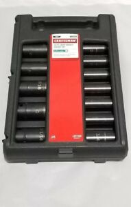 Craftsman Sae 12 Piece 1 2 Inch Drive 6 Point Deep Laser Impact Socket Set