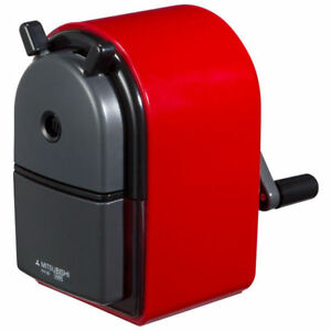 Mitsubishi Pencil Sharpener Hand Crank Retro Style Red Kh20 15