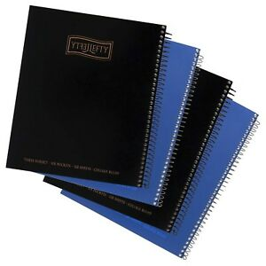 Left handed Three Subject Spiral Notebooks Plain Color Set Of 4 Black A New