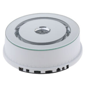 Led Light Electric Rotating Turntable For Display Jewelry Watch Collectible