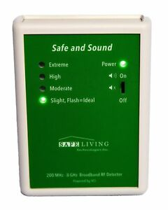 Safe Living Technologies Safe And Sound Premium Rf Detector 200mhz 8ghz New