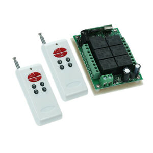 433mhz Dc12v 10a 6ch Relay Rf Remote Control Switch Receiver Transmitter