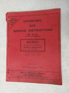 Austin Western 99m Power Grader Operating And Service Instructions 471 a Manual