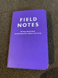 Field Notes Xoxo Festival Purple 2012 Edition Notebook Single