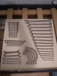 Snap On Tools Large Set Of Sae Wrenches