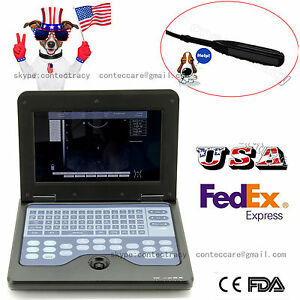 Us Vet Veterinary Use Digital Portable Ultrasound Scanner rectal Probe sw bag ce