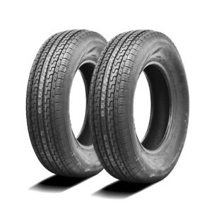 2 New Ultra Crt St205 75r15 Load D 8 Ply Trailer Tires