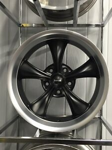Ridler Matte Black 695 5x5 5x127 17x8 Free Lugs C1500 C10 Big Chevy Gm Car Truck