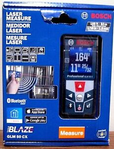 Bosch Digital Laser Distance Measure Measuring Bluetooth Range Meter Glm 50 Cx
