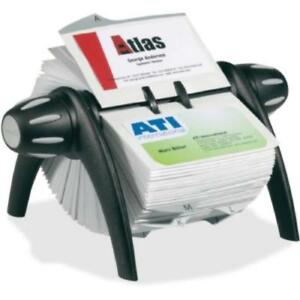 Visifix Flip Rotary Business Card File 200 Card 25 Printed A z dbl241701