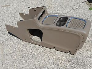 11 14 Dodge Caravan Chrysler Town Country Center Console Van Dk Brown Cup Holder