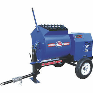 Marshalltown 800mp8hp 8hp Gas Mortar plaster Mixer With Pintle Tow