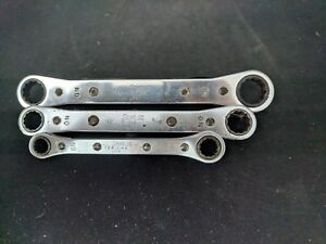 Snapon Sae 12 Point Box End Ratcheting Wrenches