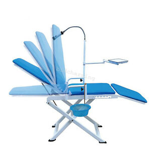 Ce Portable Folding Dental Chair Cuspidor Tray Operation Light Mobile Equipment