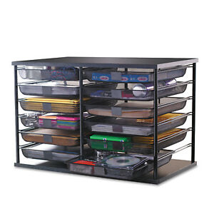 Rubbermaid 12 compartment Desktop Organizer With Mesh Drawers