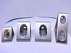50 Off 6063 Extrusion Aluminum Gusseted Profile Inside Corner Brackets 4 Sizes