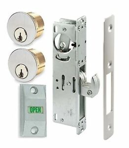 Adams Rite Type Store Front Hook Bolt Lock W keyed Mortise Cylinders