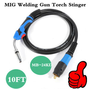 10ft Mig Welding Gun Torch Welder Stinger Parts With 3m Cable Euro Connector
