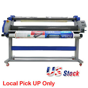 67 Inch Full auto Wide Format Single Side Hot Laminating Cold Roll Laminator Usa