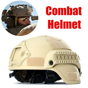 MICH2000 Sand Outdoor Airsoft Military Tactical Combat Riding Hunting Helmet New