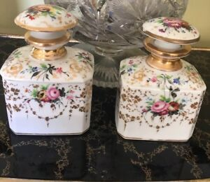 Antique Russian Imperial Factory Porcelain Hand Painted Vanity Set