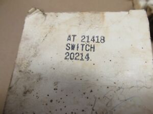 Nos John Deere Igniton Switch With Resistor At21418 1010 2010