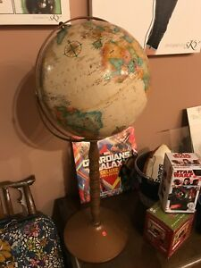 Replogle 16 Inch Diameter Globe World Classic Series Floor Stand Vintage Ussr